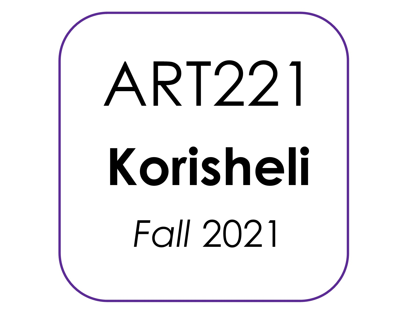 ART221 Korisheli kit image F2021