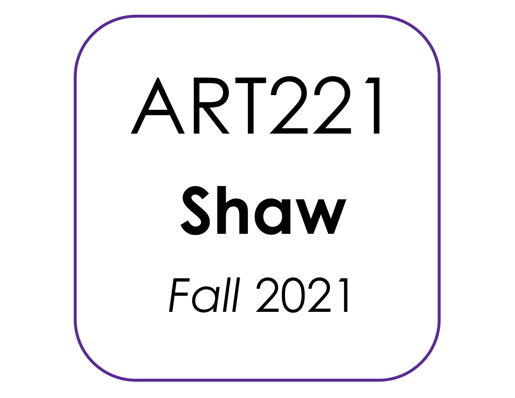 Art221 Shaw kit image F2021