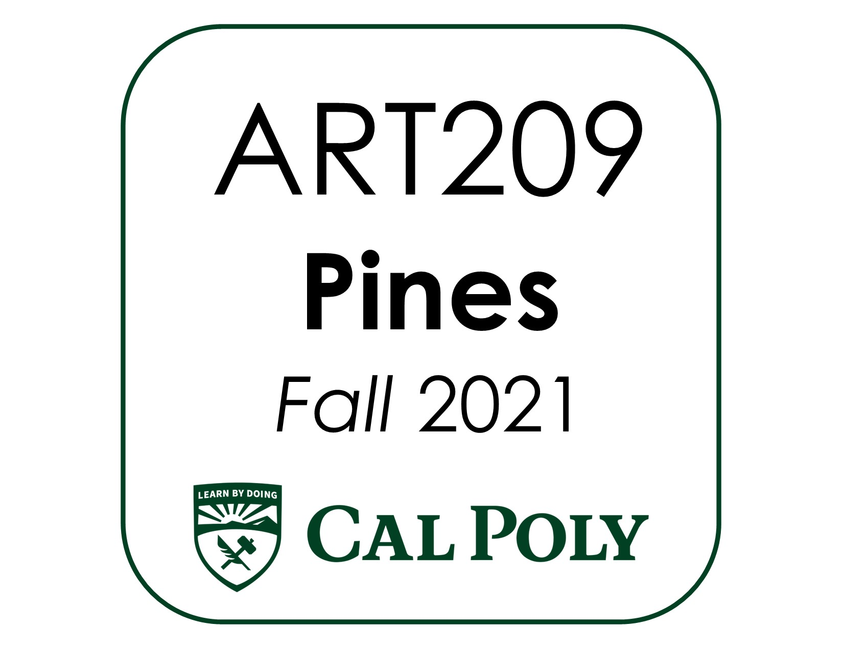 ART209 Pines kit CP F2021